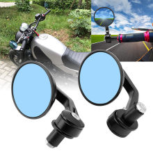 1 Pair Universal Motorcycle Motorbike Rear-view Mirror 7/8 22mm Handle Bar End