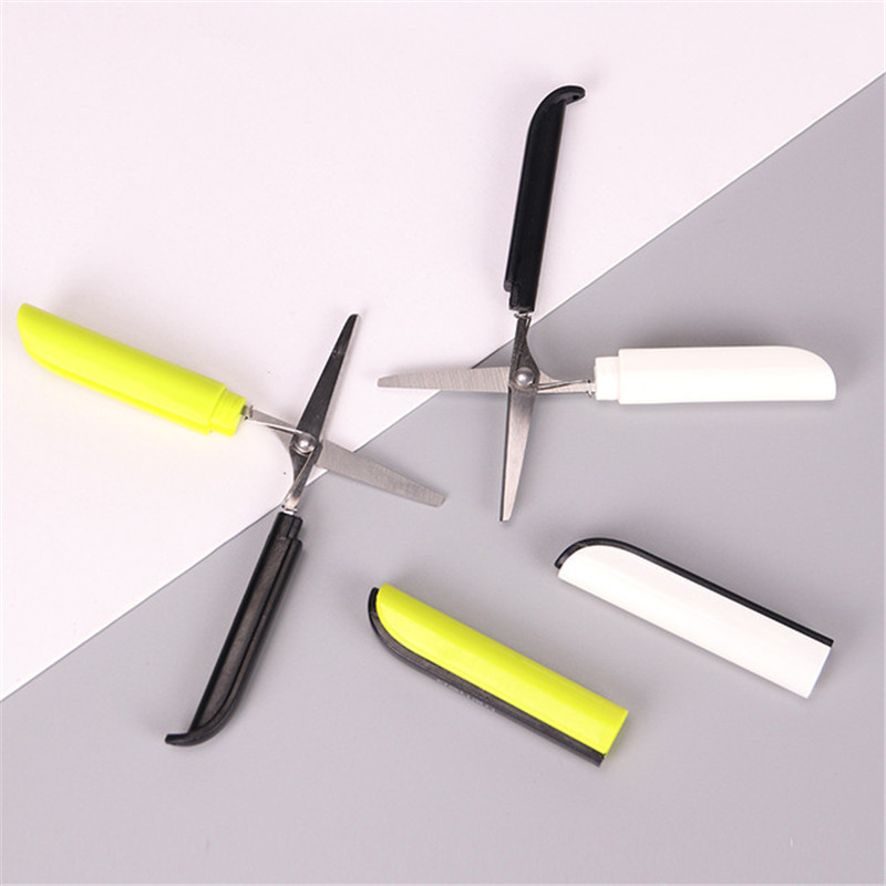 Scissor Student Kid Fold Stationery Paper Cut Office Diy School Home Art Child Safe Blunt Tip Protect Portable Preschool Photo Factory Direct Selling Price Hand Tools