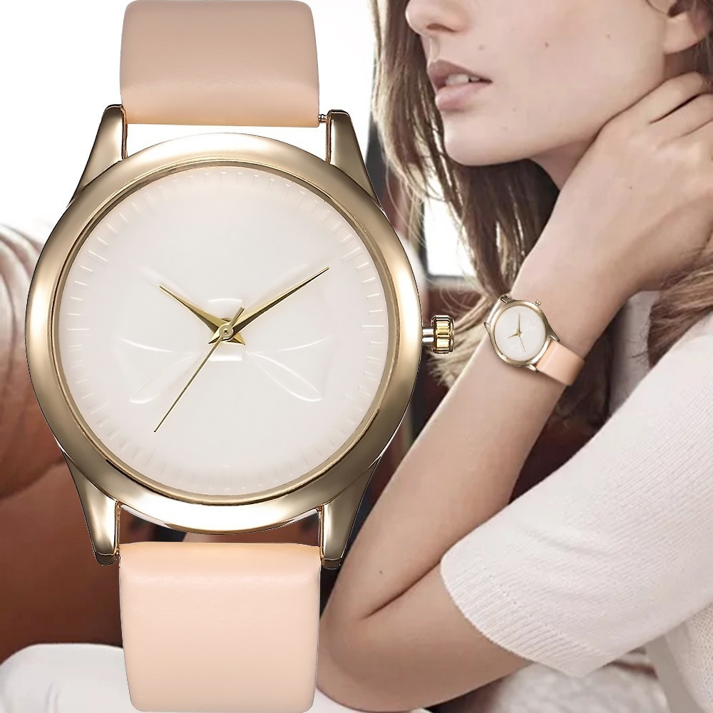 Top Luxury Brand Pink Fashion Ladies Watches Leather Female Quartz Watch Women Casual Strap Bracelet Wriswatch Reloj Mujer Gifts