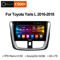 Ownice C500+ G10 Android 8.1 Car DVD Head Unit for Toyota Yaris L 2016 2018 Octa Core 2.5D IPS 2G RAM 32G ROM radio audio