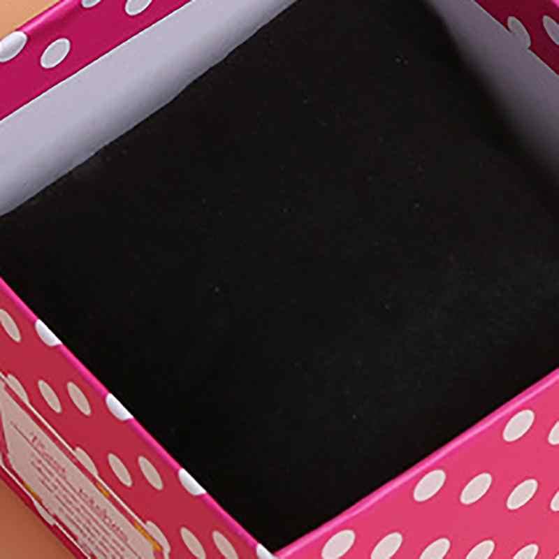 1 cái Hot Bán Vật Phẩm Sáng Tạo Hộp Quà Tặng Đóng Gói Lốm Đốm Bowknot Hộp Đồ Trang Sức Vuông Tông Carton Hộp Đồng Hồ