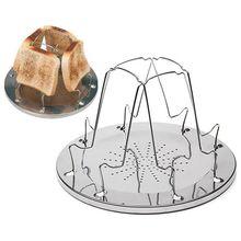 TOD-4 ломтика Кемпинг хлеб поднос для тостов Газовая Плита барбекю кемпинг тостер стойка