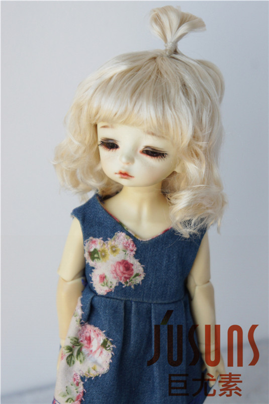 JD375 1/8 Lovely Up Style Wave Synthetic Mohair BJD Doll Wigs 5-6 - Қуыршақтар мен керек-жарақтар - фото 6