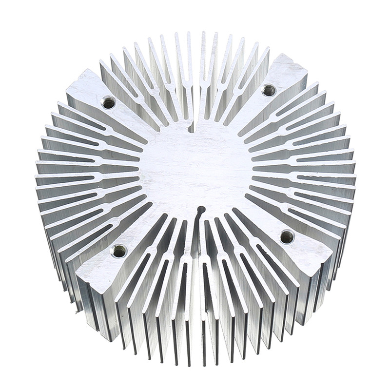 CLAITE Surface inner 4 Holes 90*40mm Round Shape 6063 Aluminium <font><b>Heatsink</b></font> for 20W 30W 50W <font><b>100W</b></font> High Power LED Bead image