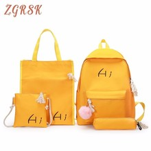 Female Girl Canvas Backpack Bags Fashion 3- 6 Years Level Bag Both Shoulders Large Capacity Schoolbags