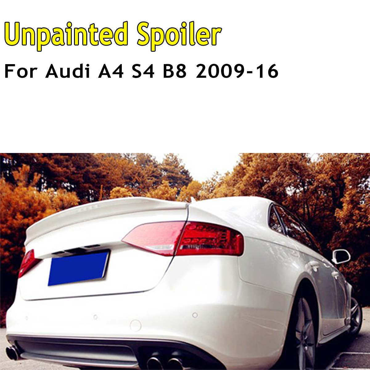 ABS Unpainted Primed C Style Rear Trunk Lid Spoiler Wing Lid For Audi A4 S4 B8 2009 2010 2011 2012 2013 2014 2015 2016ABS Unpainted Primed C Style Rear Trunk Lid Spoiler Wing Lid For Audi A4 S4 B8 2009 2010 2011 2012 2013 2014 2015 2016
