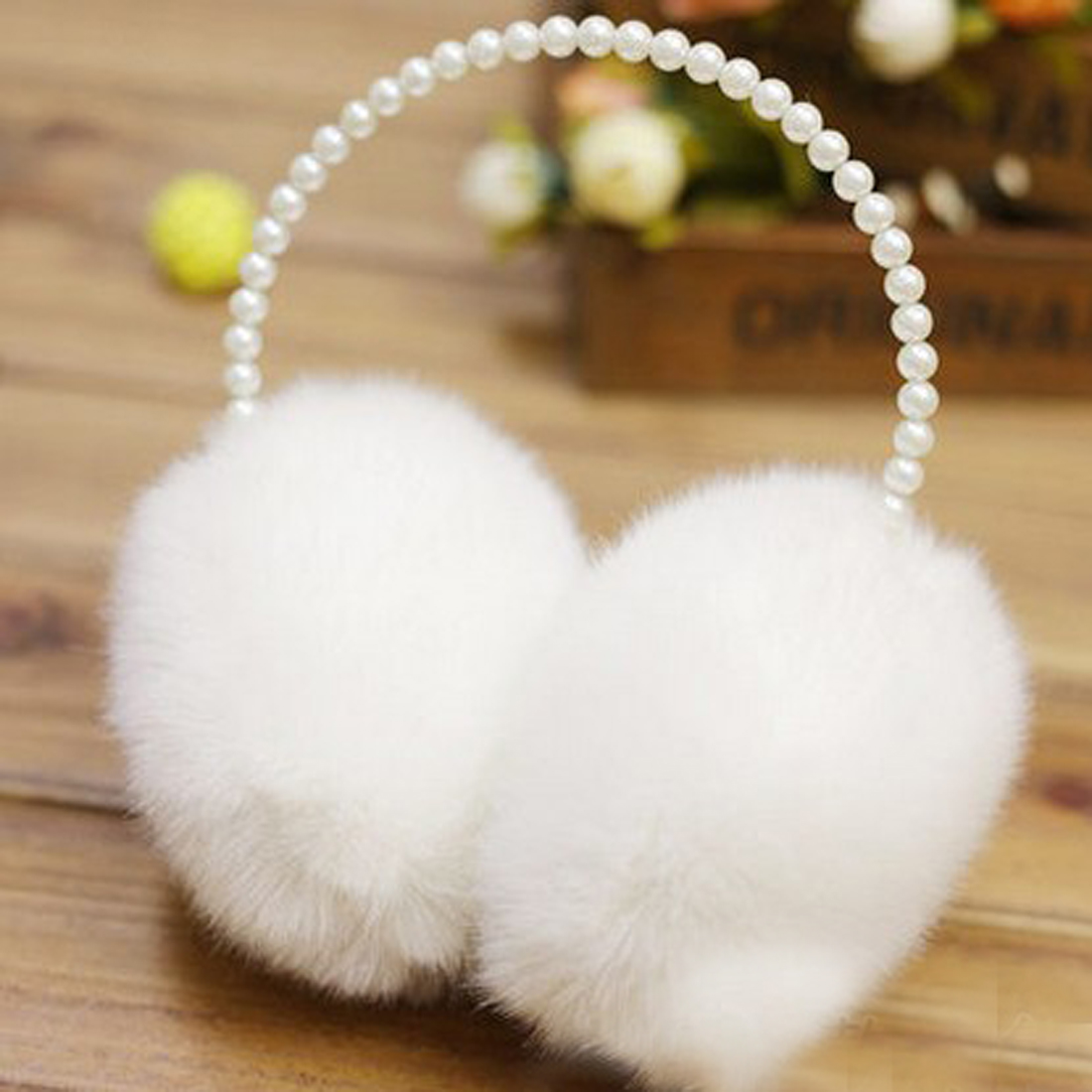 Winter Pearl Imitation Rabbit Fur 2018 Women Earmuffs Ear Warmer Soft Lady Keep Warm White Coffee Beautiful Big Plush Ear Cover