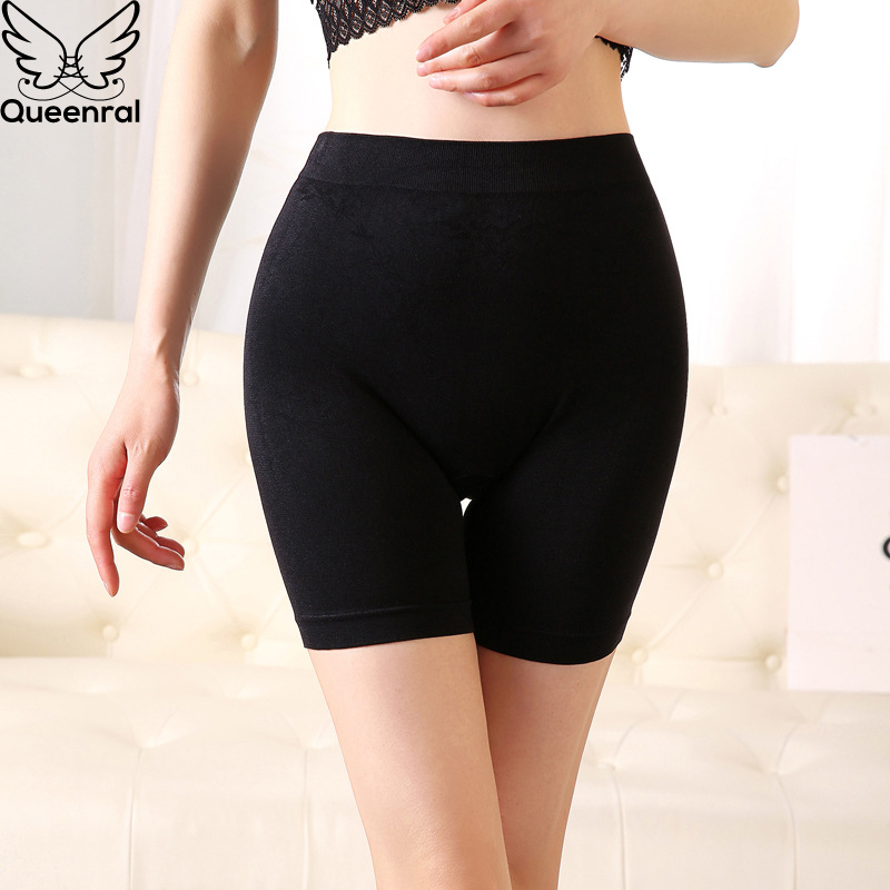 Queenral Safety Short Pants Women Shorts Under Skirt Female Short Tights Breathable Seamless Underwear Mid Waist Panty