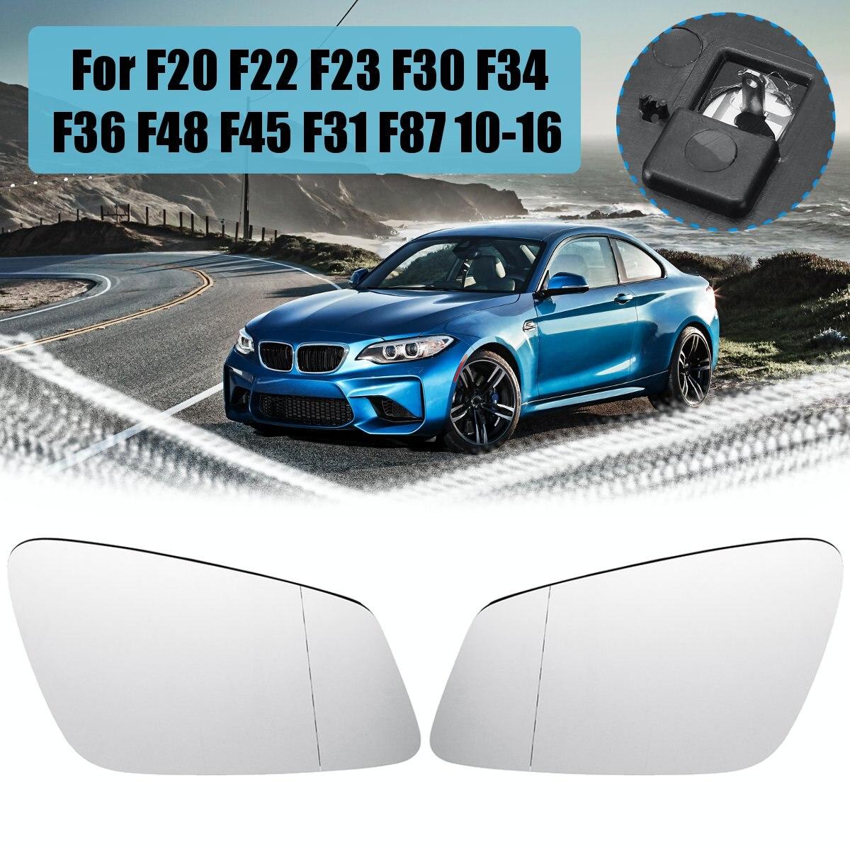Passenger Side Mirror Glass BMW E60 E63 E64 525i 530i 535i Heated//Blue W//Holder