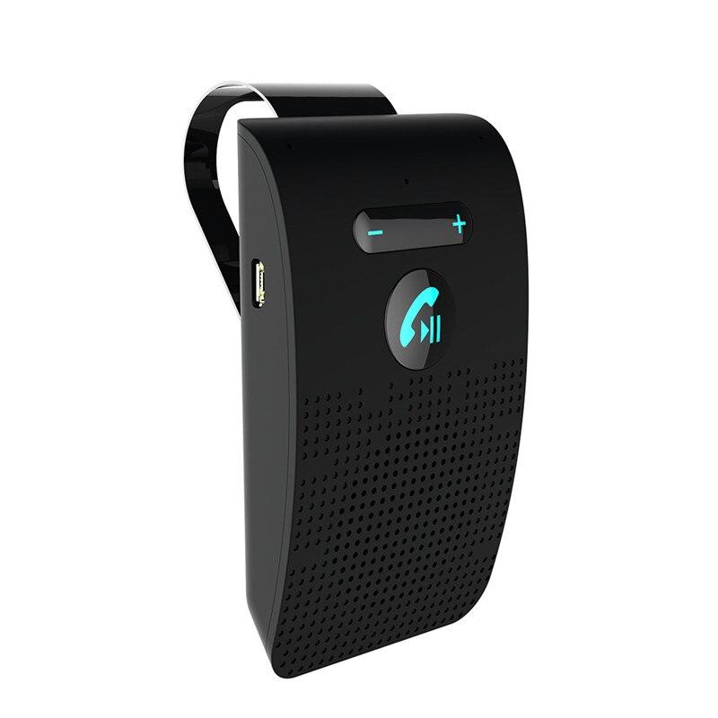V4.2 Carro sem fio Bluetooth Mãos-livres Bluetooth Car Kit Sem Fio Bluetooth Speaker Telefone Pala de Sol Clipe Speakerphone