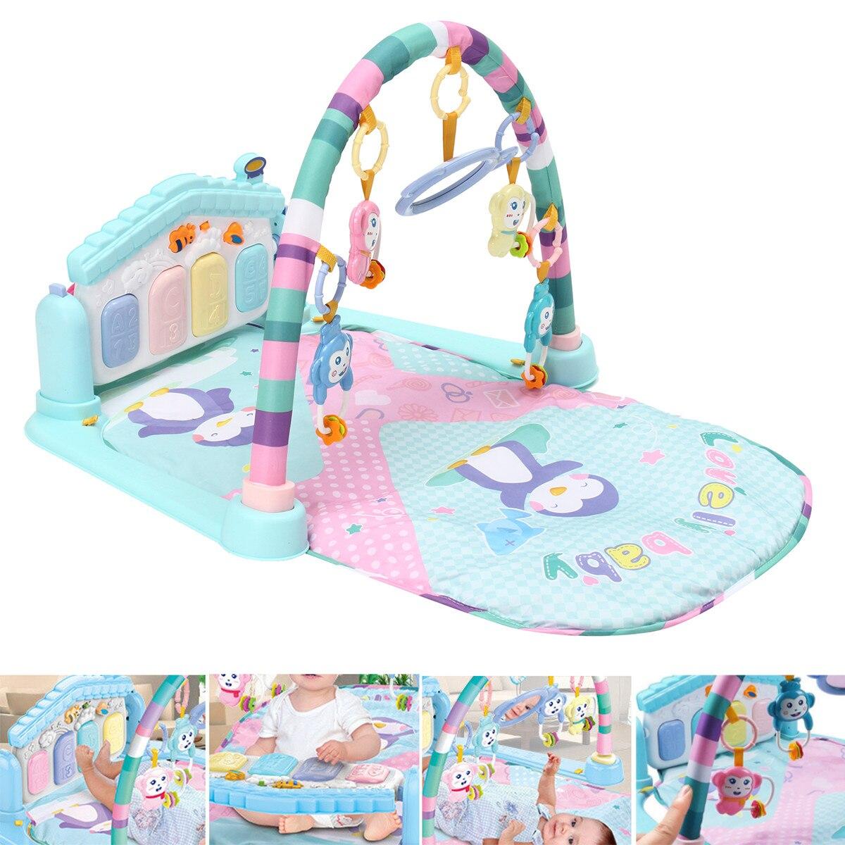 Nouveau-né tapis de jeu tapis éducatif Puzzle tapis avec clavier de Piano mignon Animal tapis de jeu bébé Gym ramper activité coup de pied tapis jouets