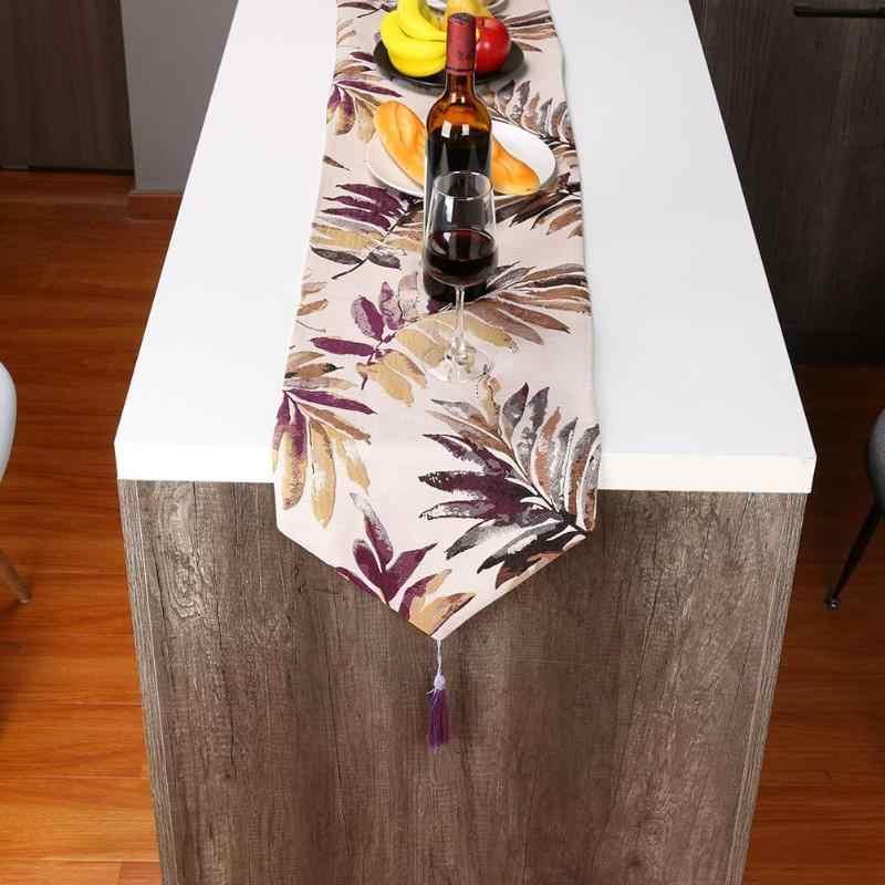 Retro Quaste Jacquard Tisch Läufer Restaurant Schreibtisch Bett Flagge für Home Hochzeit Empfang Tisch Läufer Tischdecke