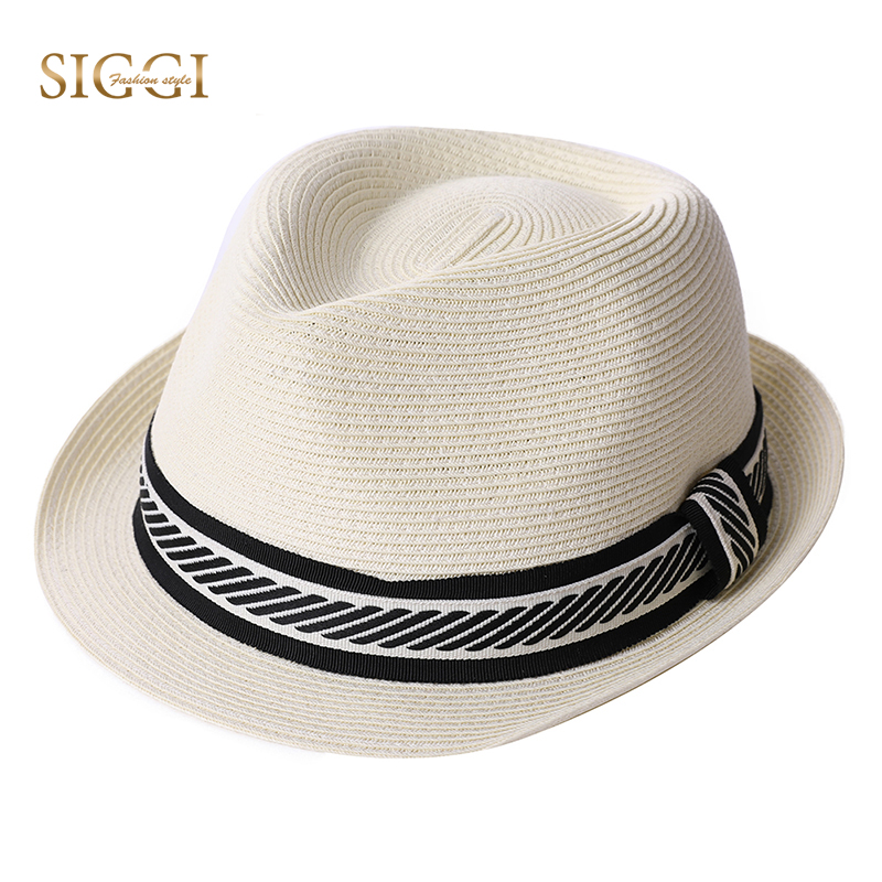 aed3e3c2f24b0 FANCET Unisex Summer Fedora Straw Hats Fashion Solid Packable Adjustable  Fashion Waistband Panama Beach Sun Hats