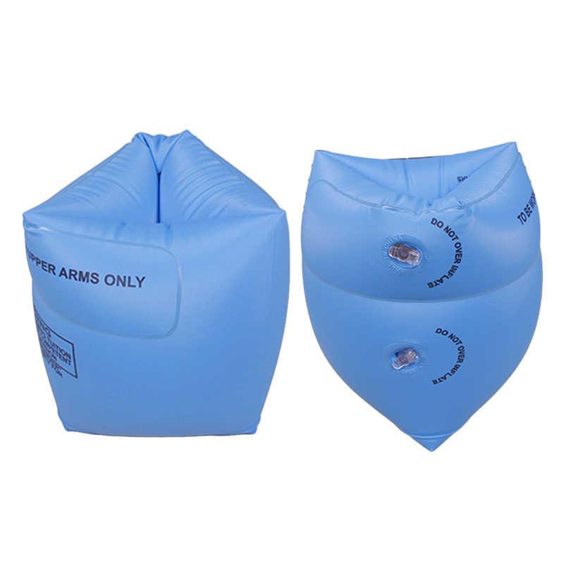 ใหม่ 2 Pcs PVC ผู้ใหญ่เด็กความปลอดภัย Inflatable Arm แหวนว่ายน้ำการฝึกอบรมว่ายน้ำวงกลมลอยเด็กสระว่ายน้ำว่ายน้ำน้ำแขน