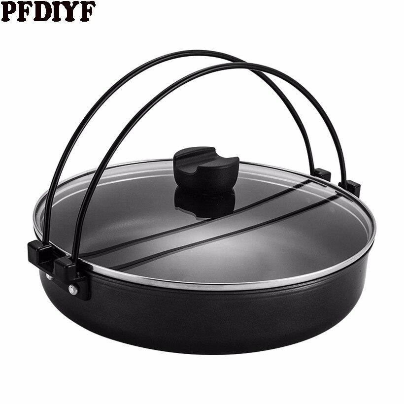 Poêle à frire Style japonais 24-26 CM poêle antiadhésive multi-usages avec poignée poêle à Steak utilisation pour cuisinière à Induction à gaz