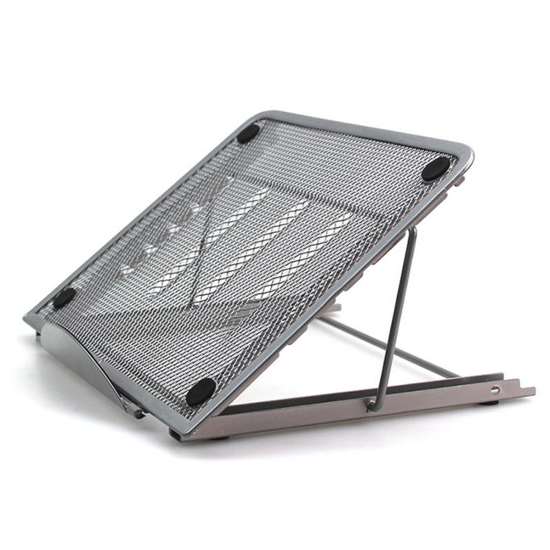 Tablet-Pad Laptop-Stand Cooling Heat-Reduction-Holder Desktop Folding Office Mount Mesh-Bracket