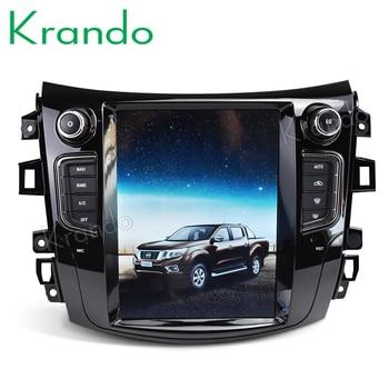 "Krando android car gps 8.1 10.4"" Tesla Vertical screen radio for NISSAN NP300 Navara 2014+ navigation multimedia system WIFI A/C"