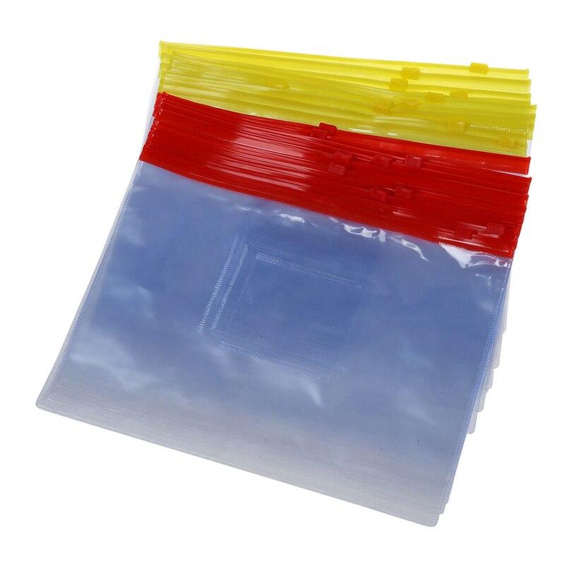 20PCS Plastic Slider Zip Lock Bags Files Holder For A5 Paper