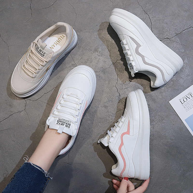 FUJIN/Брендовая женская обувь на плоской подошве; женская повседневная обувь; женские кроссовки; сезон весна-осень; женская обувь на шнуровке; удобная женская обувь
