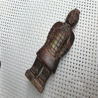 Chinese Old Ancient jade stone carving pendant jade Terracotta Warriors