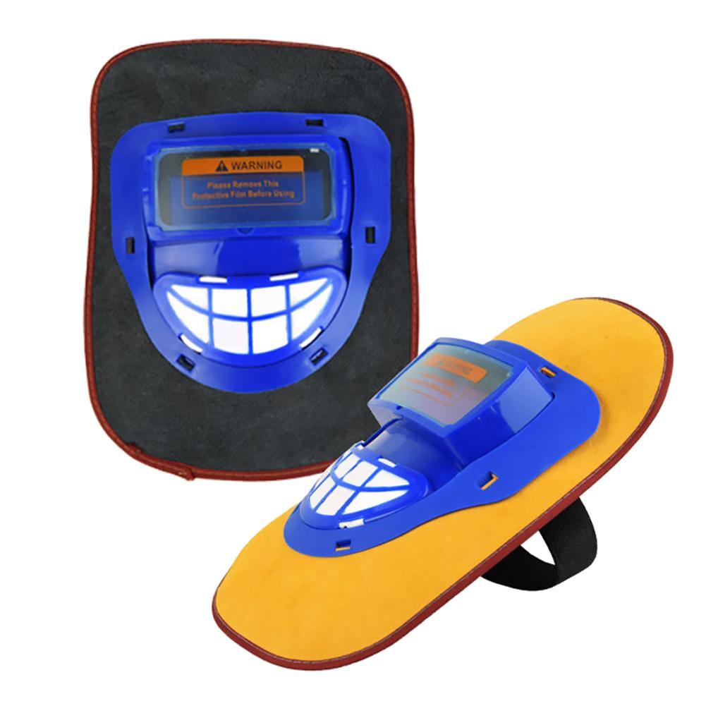 Capot de soudage en cuir casque de soudage à gradation automatique casque de masque facial/capuchon de soudeur/lentille/masque facial/lunettes