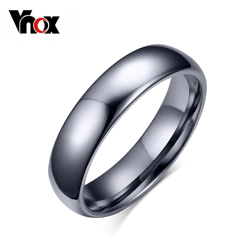 Vnox Tungsten-Ring Polishing Wedding-Jewelry Classic Women Original 4mm for 4mm/6mm Color
