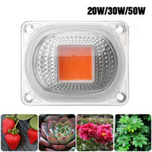 CLAITE High Power 20W 30W 50W Full-spectrum COB LED Grow Light Chip with Lens for Floodlight AC110V/220V NEW(China)