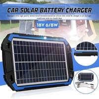 Portable Solar Panel Power Car Battery Charger 18V 6W/8W For Car Boat Charging Multifunction Protection Detachable Connection
