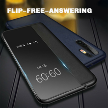 For Huawei P30 Pro Smart View Window Flip Leather Shockproof Case Cover Luxury Mirror Capa Fundas