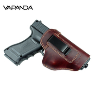Vapanda Hunting Holster Leather Gun Holster for Glock 17 19 21 23 26 Beretta 92 Sig Sauer P226 SP2022 Tactical Concealed IWB