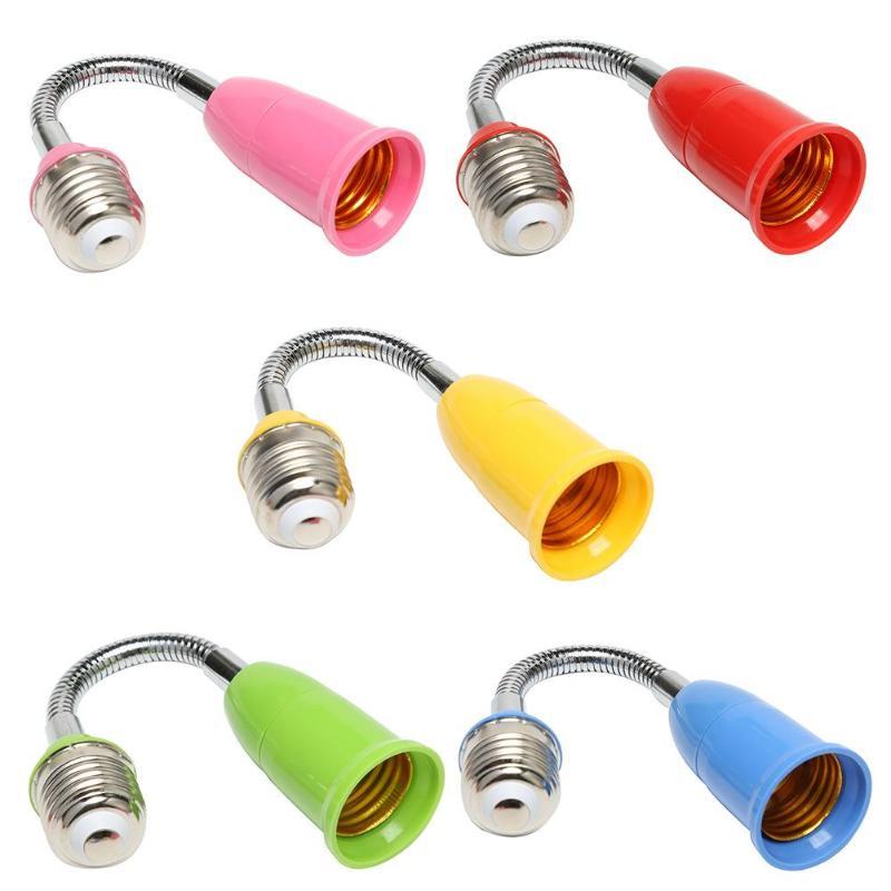 Durable E27 LED Light Bulb Holder Universal Flexible Extension Lamp Adapter Socket For Lighting Accessories