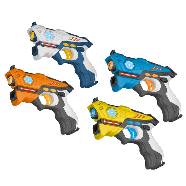 US $48 65 44% OFF|4Pcs/lot Infrared Laser Tag Blaster Laser Battle Pack  Indoor and Outdoor Family Activity toys for Kids Adults drop Shipping-in  Toy