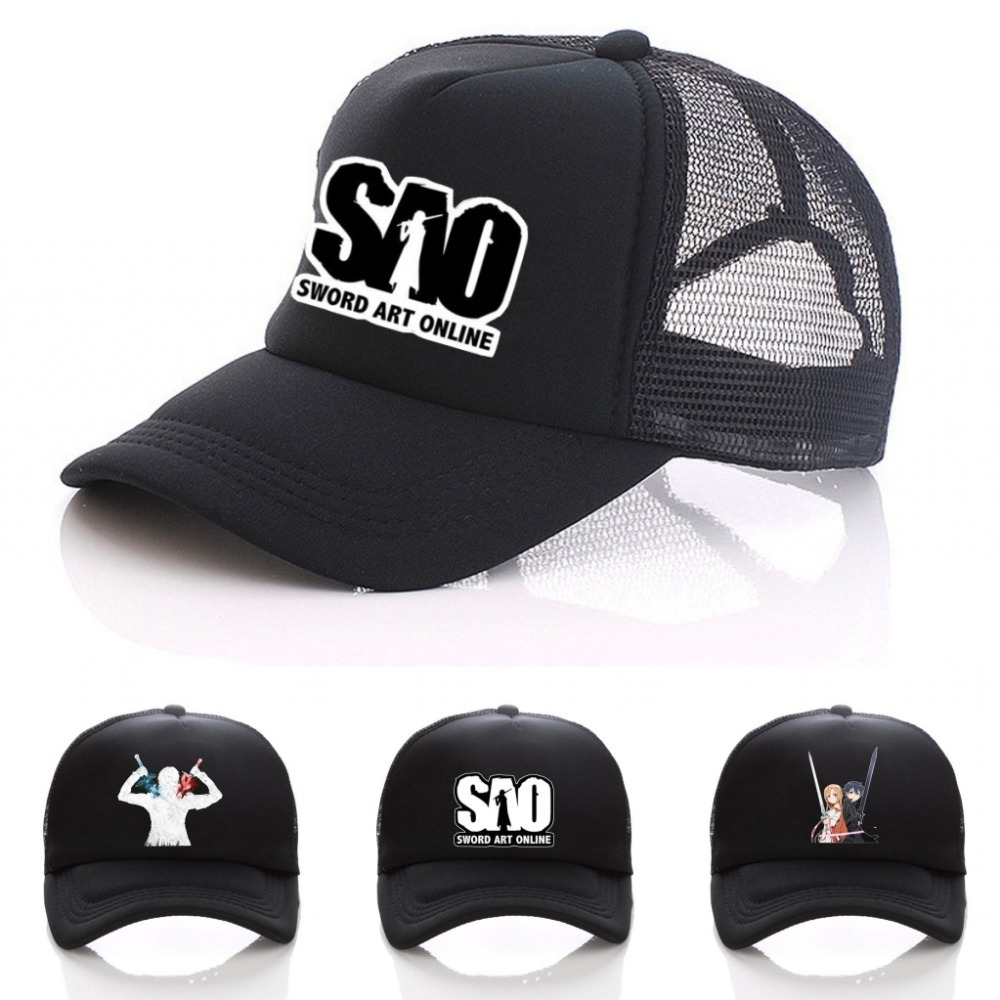 Anime Sword Art Online Hat Printing Sport Hat Sun Hat Unisex Accessories Cosplay Hip-Hop Fashion Boy Girls Cap