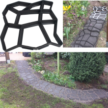 Creative Garden Path Making Concrete Plastic Mold DIY Cement Brick Road Paving Molds automobile cheap plastic injection molds making