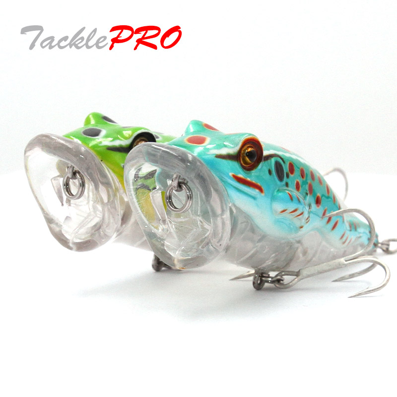 TacklePRO PO-04 Artificial Popper New Model Fishing Bait Flog Poper Frog 18.3g 90mm bait Stick assorted colors Fishing lures