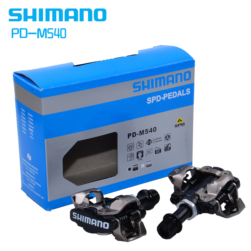 ShimanoPD M540 Selbst Verriegelung Klick SPD Bike Pedal M540 MTB Berg Fahrrad Padals Mit Original PD22 Stollen-in Bicycle Pedal from Sports & Entertainment    1