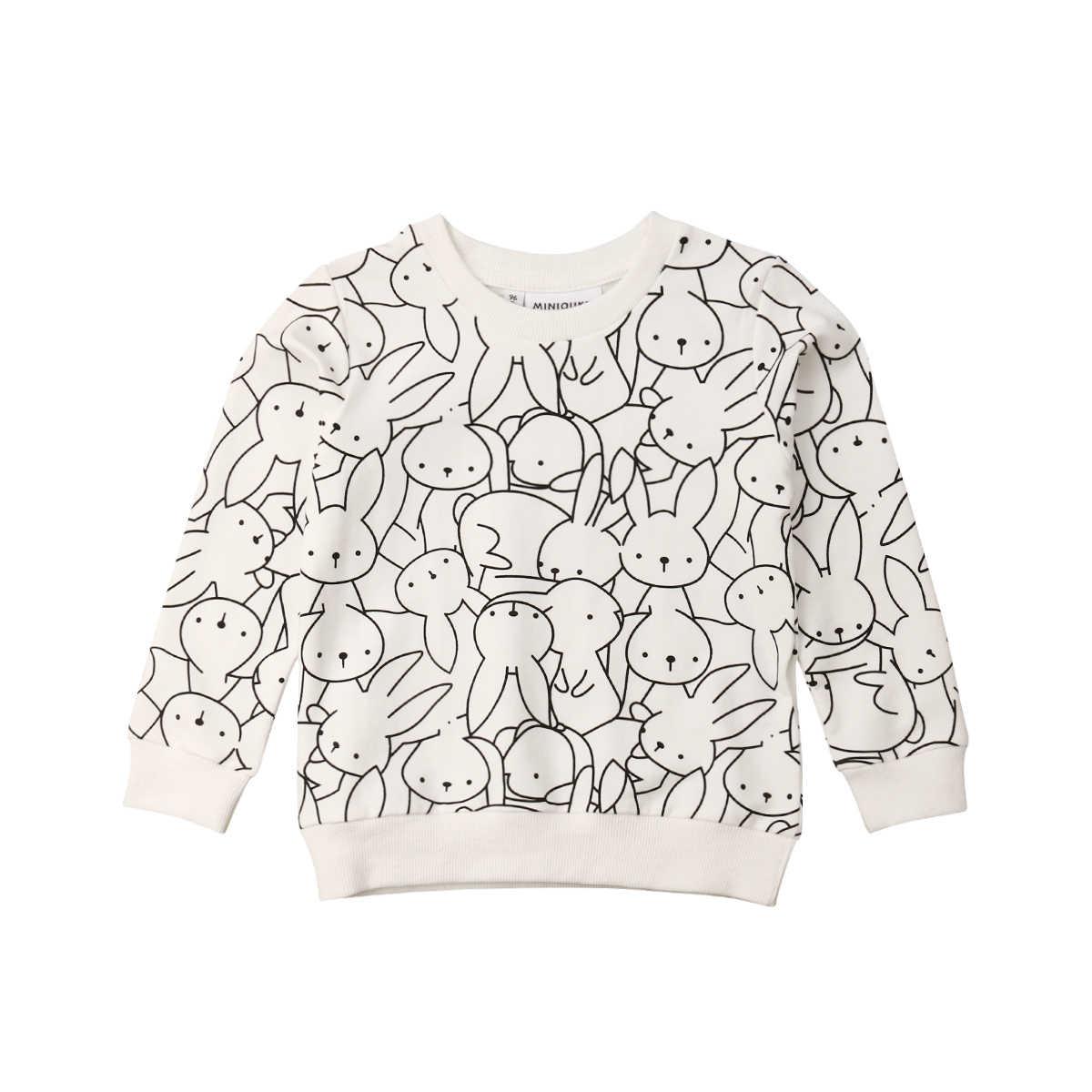 1-7Years Toddler Kid Baby Girl Boy Bunny Leopard In Top T-Shirt Áo Nỉ Quần Áo