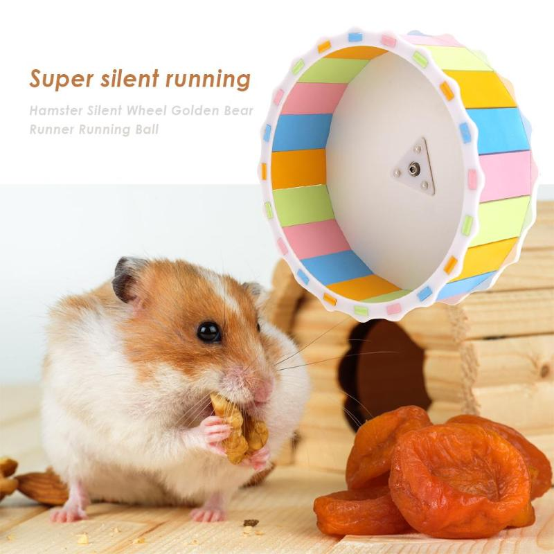 Wood Noiseless Hamster Round Wheel Small Pet Guinea Pig Exercise Sports Running Roller For Hamster Toys Small Pet Product