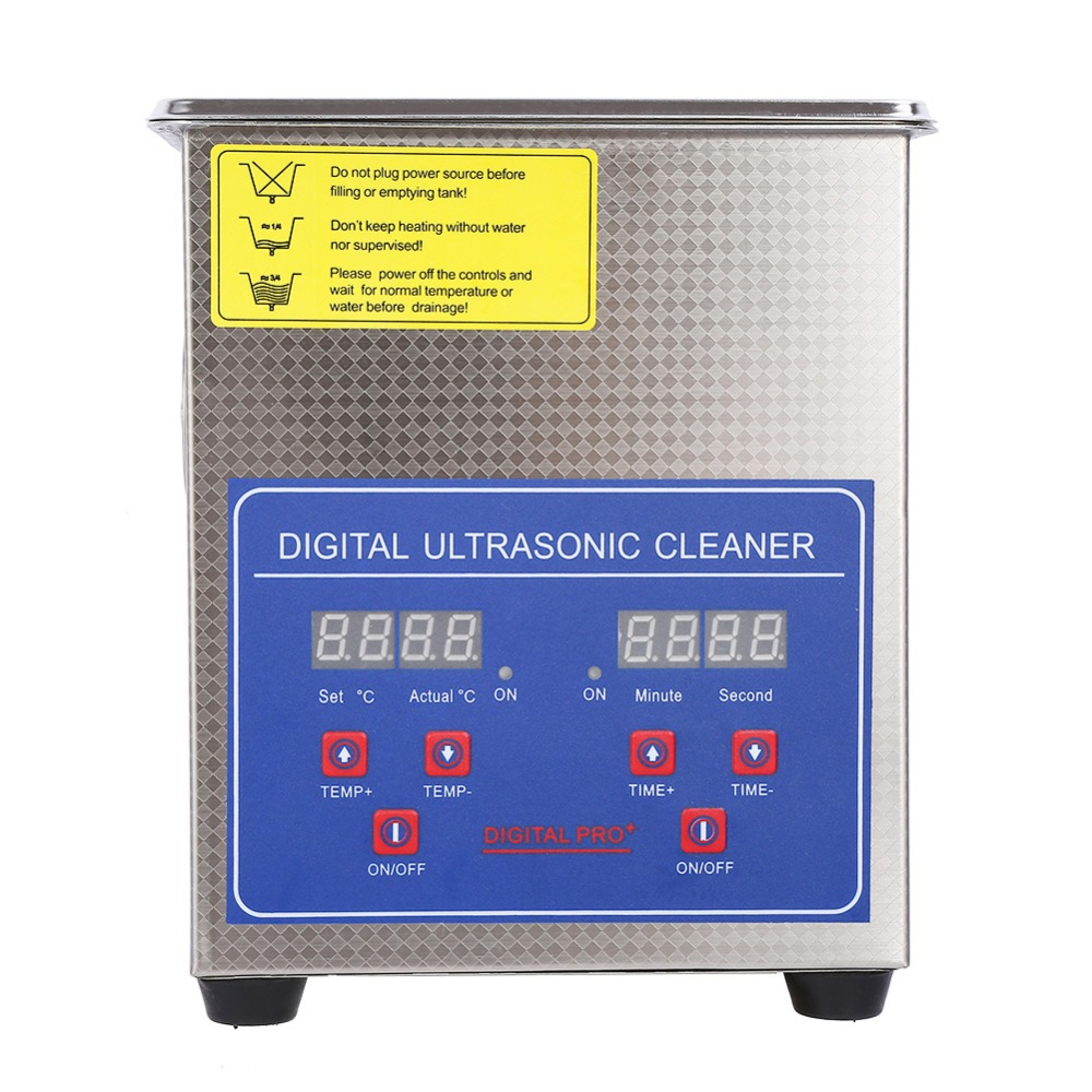 220V 1.7L Digital Ultrasonic Cleaner Heated Timer Stainless Steel Ultra Sonic Cleaning Machine Local Fast Shipping220V 1.7L Digital Ultrasonic Cleaner Heated Timer Stainless Steel Ultra Sonic Cleaning Machine Local Fast Shipping