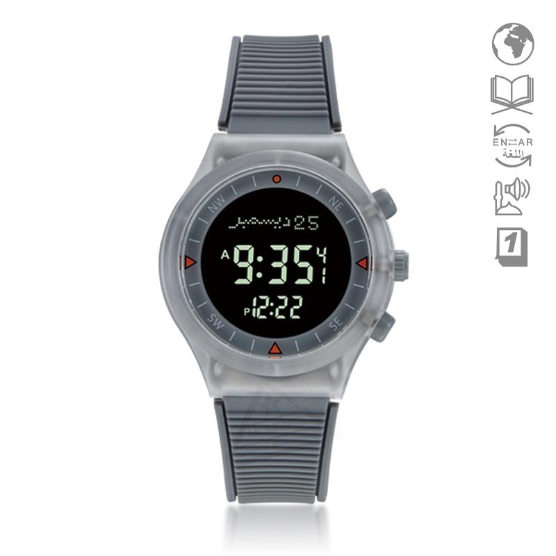 Azan Sport Smart Wristwatch For Man With Alfajr Time 35mm Waterproof Azan Clock With Compass Hiji Stopwatch Auto Qibla Direction Men's Watches Watches