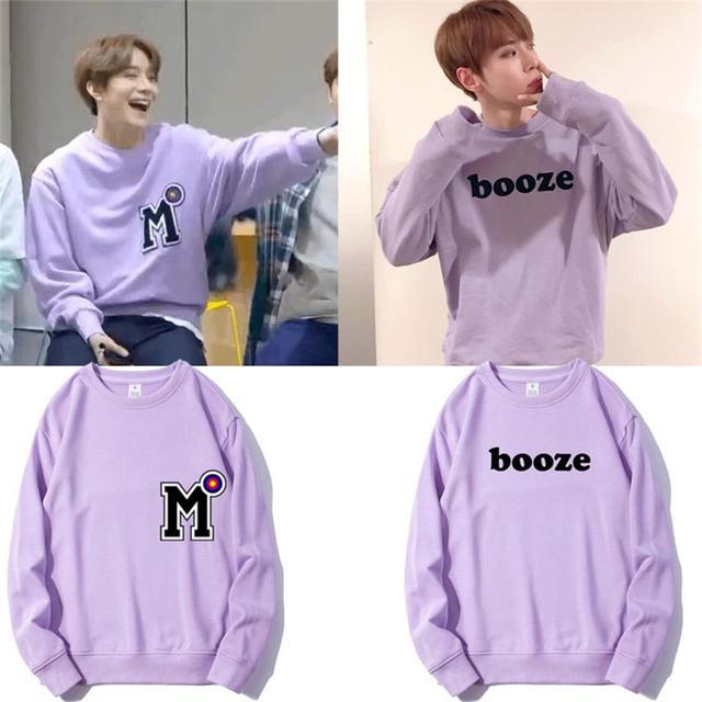 484fa2cb3669 Kpop NCT 127 Support Hoodie Pullover DoYoung Kim Jung-Woo Fashion Crew Neck  Sweatshirt