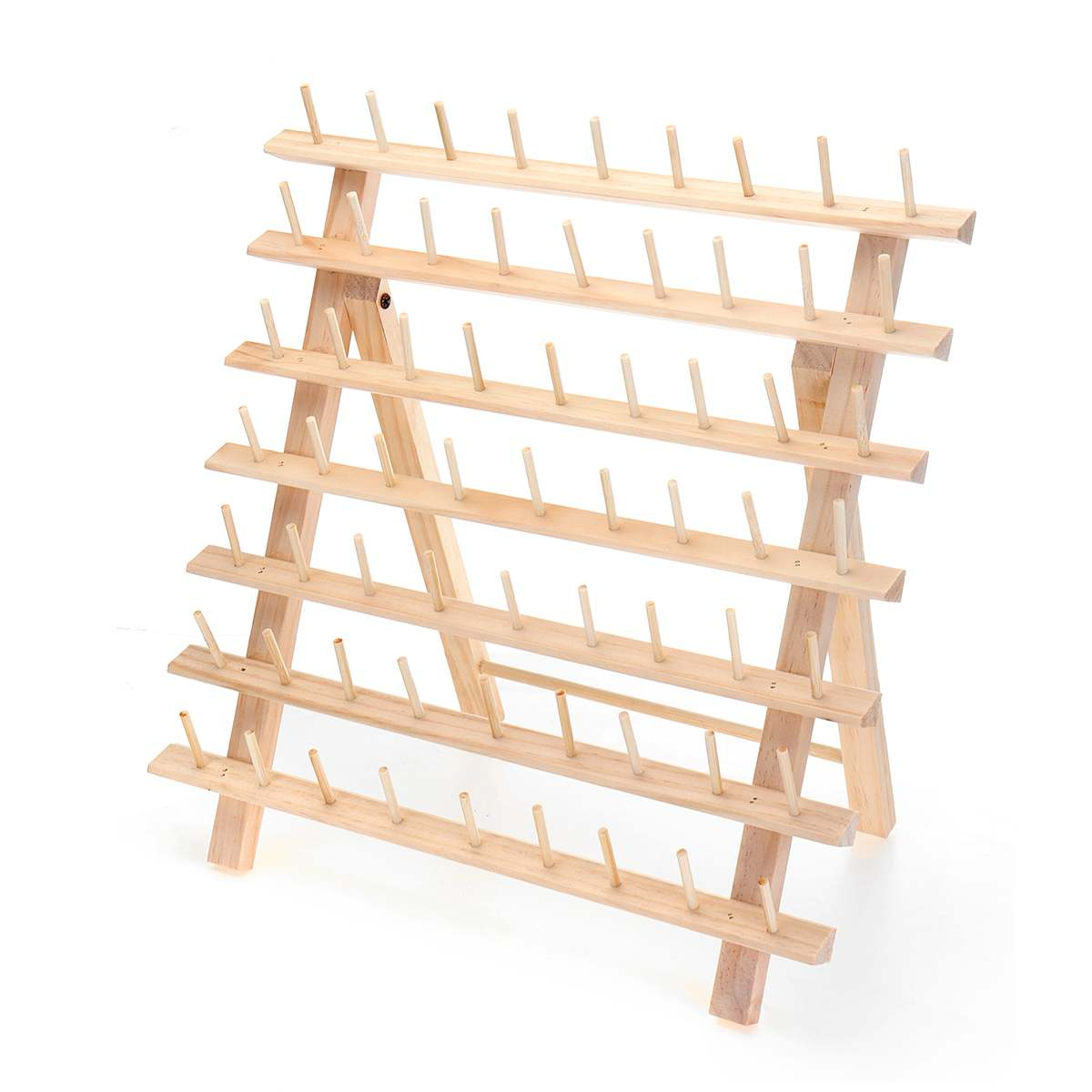 KIWARM 63 Axis Small Line Smaller Spool Wooden Folding Sewing Rack Log Color Wire Roll Frame Free-standing 39x18x37cmKIWARM 63 Axis Small Line Smaller Spool Wooden Folding Sewing Rack Log Color Wire Roll Frame Free-standing 39x18x37cm