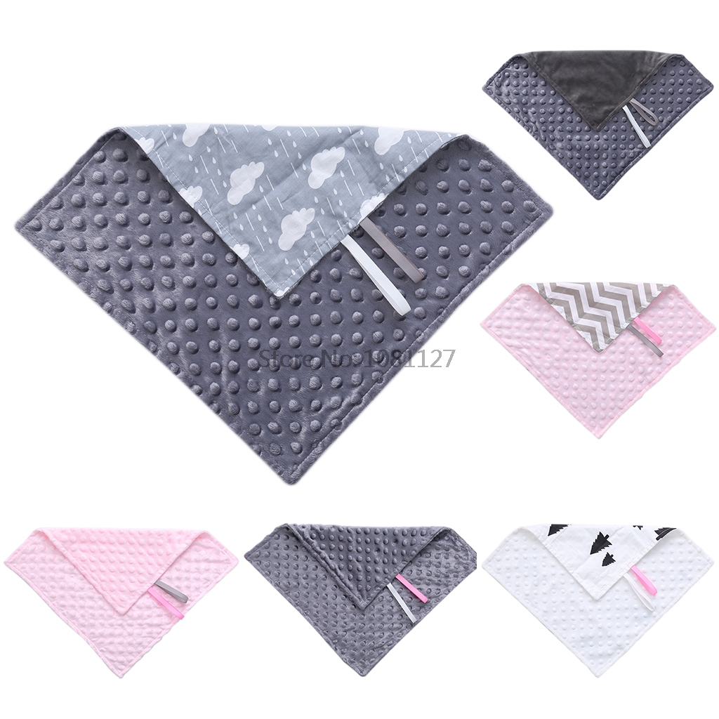 Toddler Baby Towel Blanket Pacifier Holder 35cm*35cm Tag Soother Nipple Cloth Shower Gift Toys-15