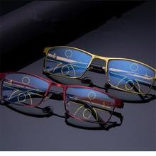 9c0f3fa25 XojoX Progressiva Óculos De Leitura Unisex Anti Blue Light Alloy Perto  Distante Visão Multifocal Óculos Hipermetropia Dioptria +.