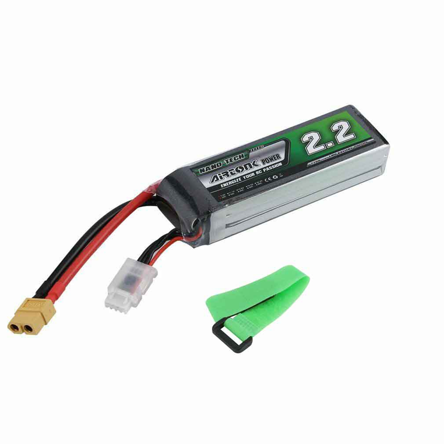 Airtonk Power 11.1V <font><b>2200Mah</b></font> 30C <font><b>3S</b></font> 1P <font><b>Lipo</b></font> Battery Xt60 Plug For Rc Drone Car, Helicopter, Car, Boat Quality Batteries image