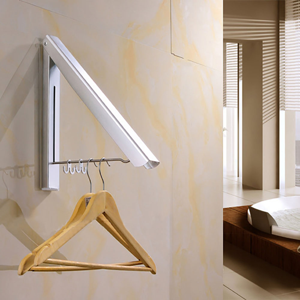 Invisible Clothes Hanger Aluminum Folding Drying Rack Suitable For Hang Clothes In Spare Room, Bedroom, The Side Of Wardrobe