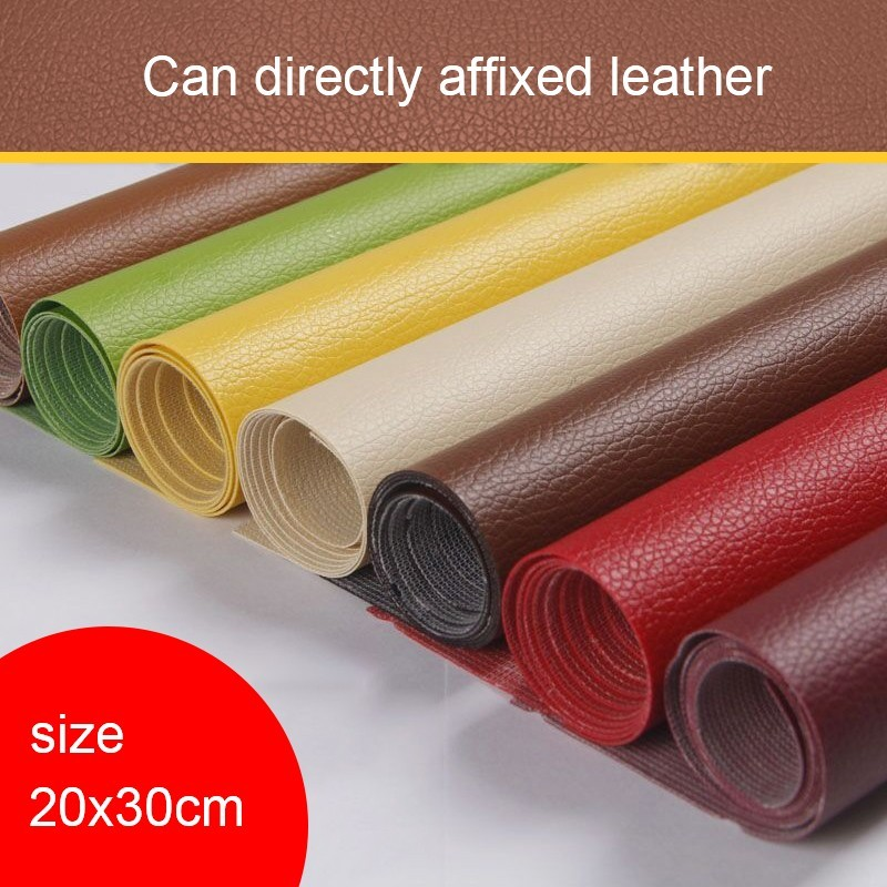 Zyfmptex 20x30cm 0 6cm Thick New Arrival Self Sticking Pu Leather Lychee Texture Repair Artificial Handmade Materials