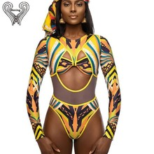 db06a7b0a1fb4 BKNING Long Sleeve Swimsuit Two Pieces African Swimwear Swimming Suit For  Women
