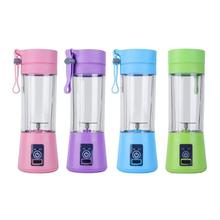 все цены на Electric Fruit Juicer 380ml Mini USB Portable Cup Smoothie Machine Blender Fruit Mixer Vegetable Food Processor Smoothie Ice онлайн