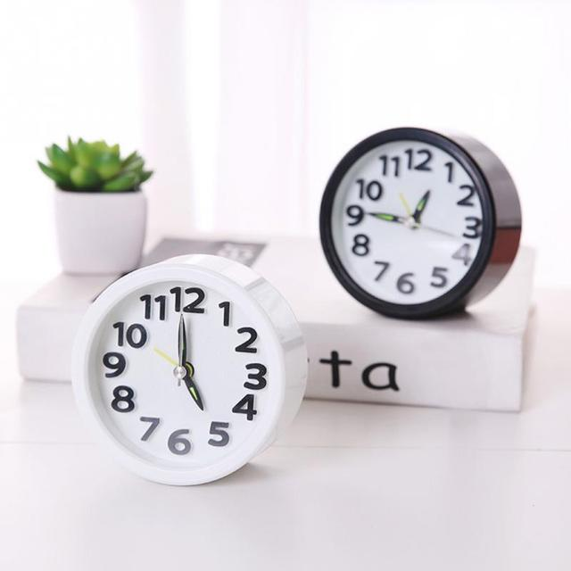 Hot Sales Bedroom Clock Round/square Shape Living Room Portable Mini Multifunction Alarm Clock Drop Shipping #705